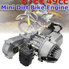 49cc 47cc Motorcycle Complete Engine 2-Stroke Pull Start With Transmission For Mini Dirt Bike