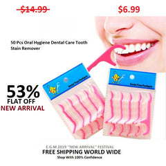 50 Pcs Oral Hygiene Dental Care Tooth Stain Remover