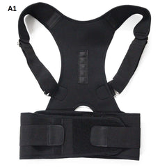 Back Brace Posture Corrector | Best Fully Adjustable Clavicle Support Brace | Improves Posture and Provides Lumbar Support | For Lower and Upper Back Pain | For Men and Women