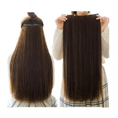 24 Inches 5 Clips/Piece Natural Silky Straight Synthetic Hair Extension