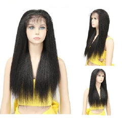 26inch 65cm Straight Long Synthetic Heat Resistant Lace Front Wig