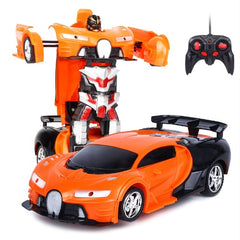 RC Car RC Robot Transformer 2 In 1 Remote Control Toy Gift For Children Kids.