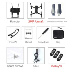Elephagiantmart.com - Buy RC Quadcopter - E58 WIFI FPV With Wide Angle HD Camera High Hold Mode Foldable Arm RC Quadcopter Remote Control Toy - Full Set