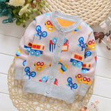 Full Sleeve Cartoon Pattern Bamboo Fiber Baby Boy Outwear - A1