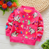 Full Sleeve Cartoon Pattern Bamboo Fiber Baby Boy Outwear - A3