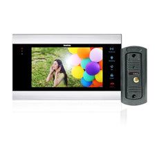 Wired Interface 7-Inch Color LCD Video Door Phone Intercom System