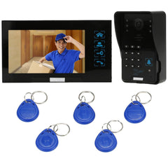 7-Inch Doorbell Touch Button Rainproof Night Vision Intercom Doorbell System Kit