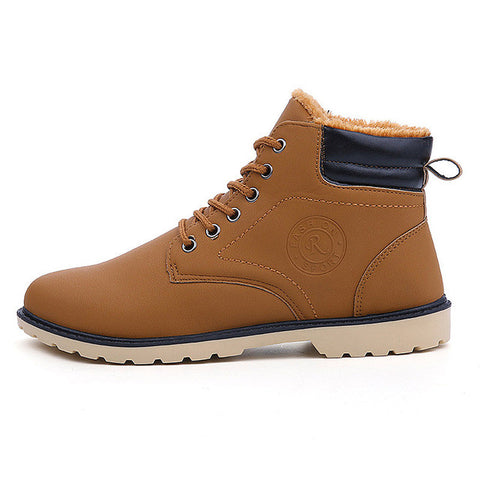 Brown Cross-Tied Rubber Outsole Ankle Boot For Men - Bigrockshoes.com