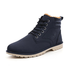 Black Cross-Tied Rubber Outsole Ankle Boot For Men - BigrockShoes.com