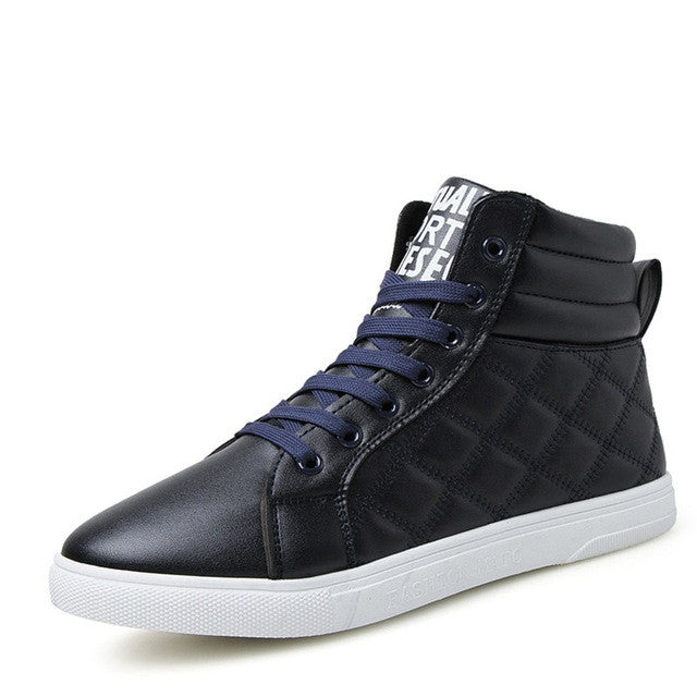 Blue Plush Lining Casual Shoe For Men - BigrockShoes.com
