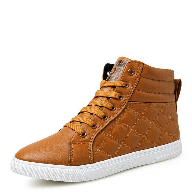 Brown Plush Lining Casual Shoe For Men - BigrockShoes.com