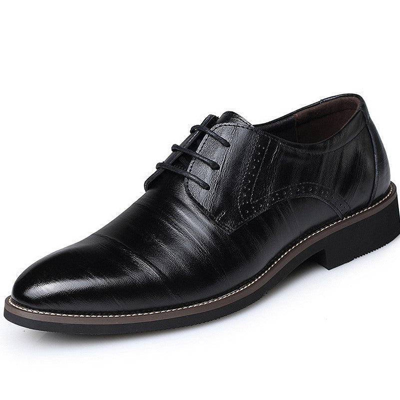 Black Men Formal Shoe Pointed Toe PU Lining  - BigrockShoes.com