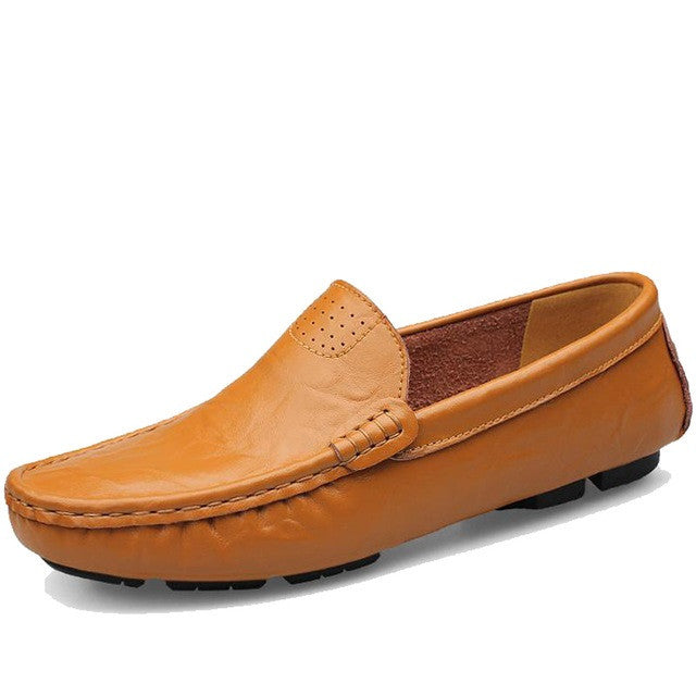 A10 Design Genuine Leather Men Loafer Shoe - BigrockShoes.com