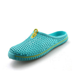 Light Green Fretwork Men Slippers Flip Flop Slip-On Closure - BigrockShoes.com