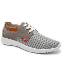 Grey Cotton Lining Fabric Insole Rubber Outsole Casual Shoe For Men