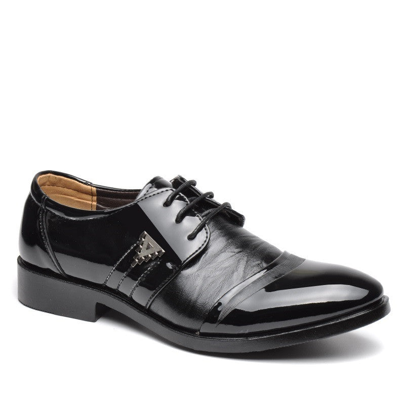 Black Bonded Leather Eva Insole Lace-Up Closure Formal Shoe For Men