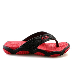 Red PVC Lining Rubber Insole Rubber Outsole Slippers Flip-Flop For Men