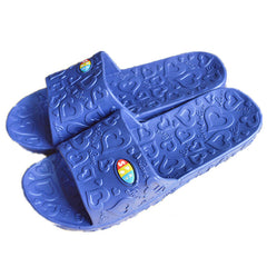 Blue Rubber Insole Rubber Outsole PVC Lining Slippers Flip-Flop For Men