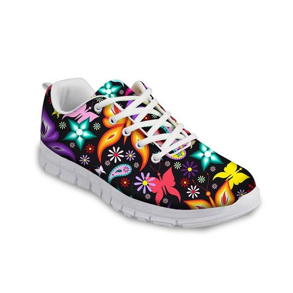 Air Mesh Eva Insole Cotton Lining Mixed Colors Casual Shoe For Women  - A14