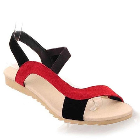 Slip-On Closure Gladiator Pattern Plain Decoration Sandals For Women