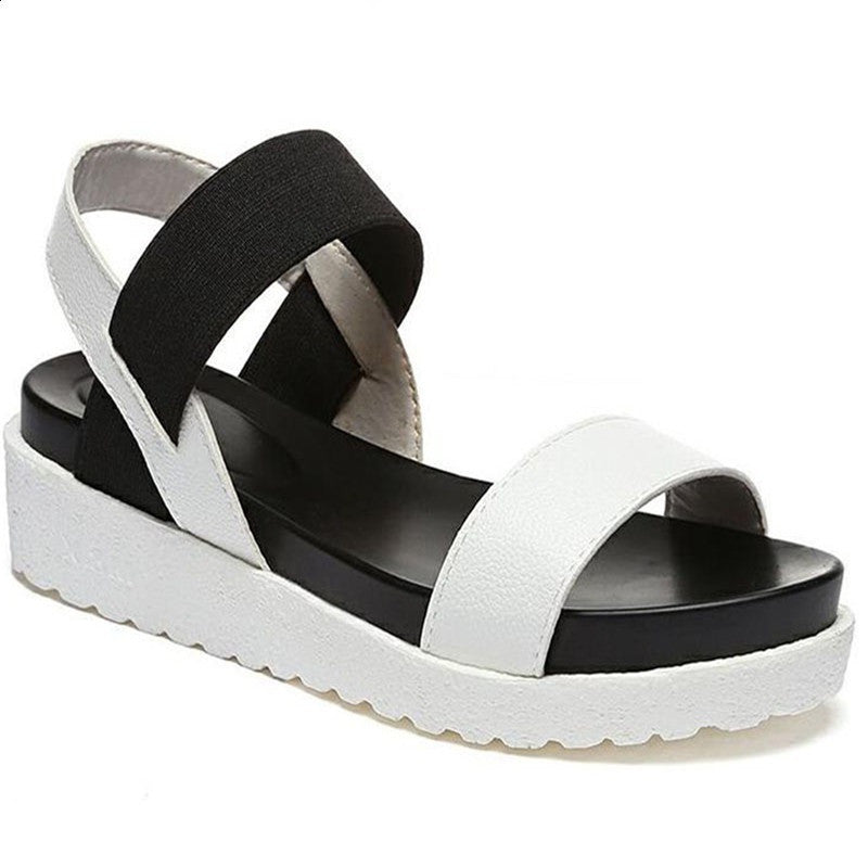 Nubuck Leather Solid Pattern Buckle Deco Ankle Strap Sandals For Women