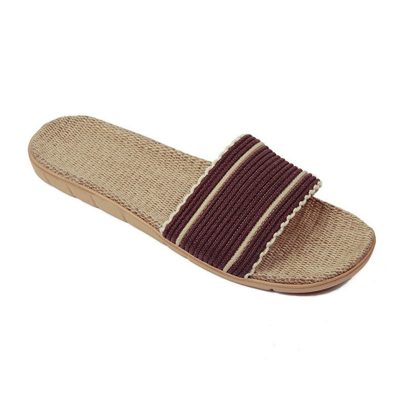 Brown Geometric Deco Synthetic Lining Eva Outsole Slippers Flip-Flop For Women