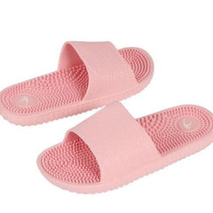 Light Pink Solid Pattern Eva Insole & Outsole Slippers Flip-Flop For Women