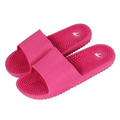 Deep Pink Solid Pattern Eva Insole & Outsole Slippers Flip-Flop For Women