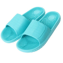 Aqua Color Solid Pattern Eva Insole & Outsole Slippers Flip-Flop For Women