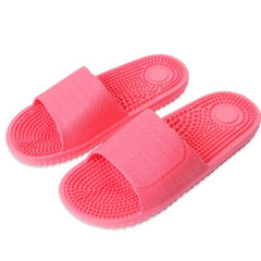 Hot Pink Solid Pattern Eva Insole & Outsole Slippers Flip-Flop For Women