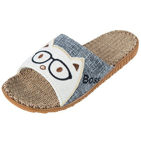 Blue Animal Print Synthetic Lining Eva Outsole Slippers Flip-Flop For Women