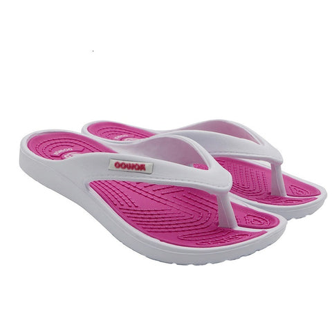 Pink Paisley Pattern Slip-On Closure Latex Insole Slippers Flip-Flop For Women