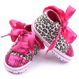 Bling Fashion Element Leopard Pattern First Year Walker Baby Shoe - A2