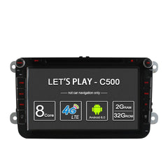 4G SIM Octa 8 Core 2G RAM 2 Din Car DVD Radio Player For VW Skoda Octavia 2