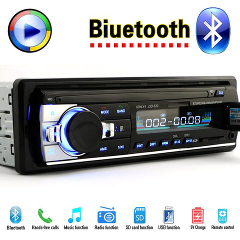 Car Stereo Radio Player Bluetooth With FM, USB & SD Slot