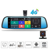 8-Inch 4G Touch IPS Car DVR Camera Android Dual Lens Video Recorder Dash Cam