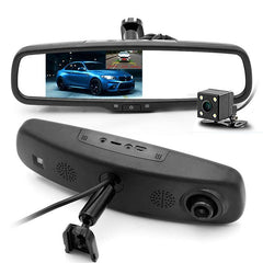 Dual Lens 5-Inch IPS Car With Rearview Mirror DVR Digital Video Recorder Cam