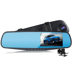Dual Lens Car Camera With Rearview Mirror Full HD Video Recorder Dash Cam
