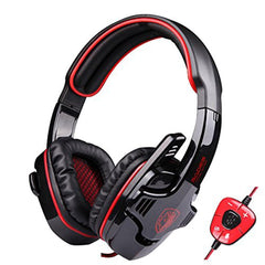 7.1 Surround Sound Headset Gamer With Mic Remote Control USB
