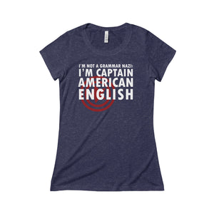 """Captain American English"" Women's Triblend Tee"