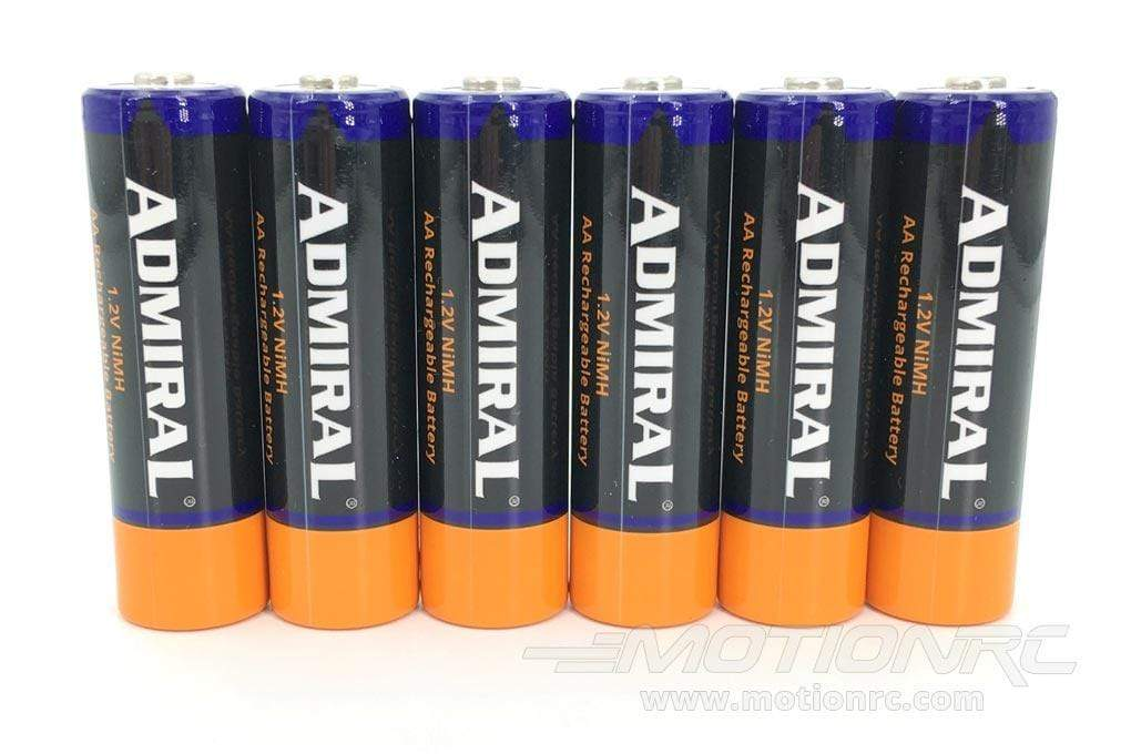 Admiral 1.2V 2600mAh NiMH AA Rechargeable Batteries (6 Pack) ADM6025-002