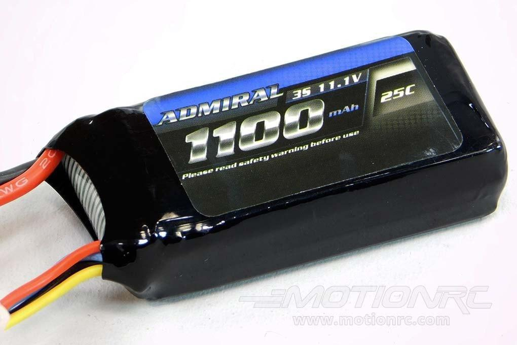 Admiral 1100mAh 3S 11.1V 25C LiPo Battery with T Connector - SCRATCH AND DENT EPR11003(SD)