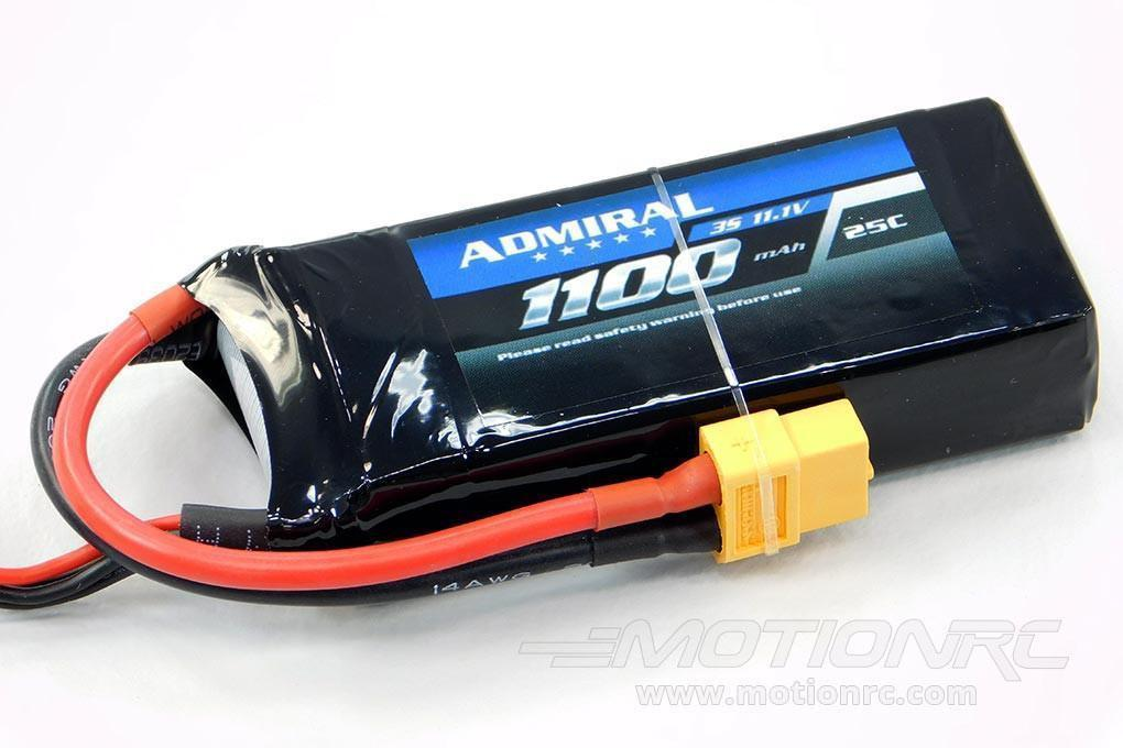 Admiral 1100mAh 3S 11.1V 25C LiPo Battery with XT60 Connector EPR11003X6
