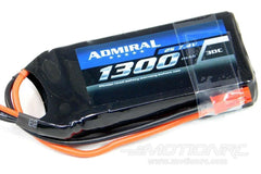 Admiral 1300mAh 2S 7.4V 30C LiPo Battery with JST Connector EPR13002J