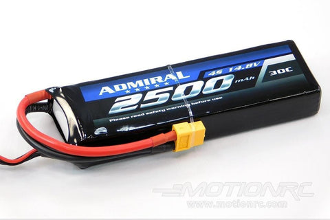 Admiral 2500mAh 4S 14.8V 30C LiPo Battery with XT60 Connector EPR25004X6