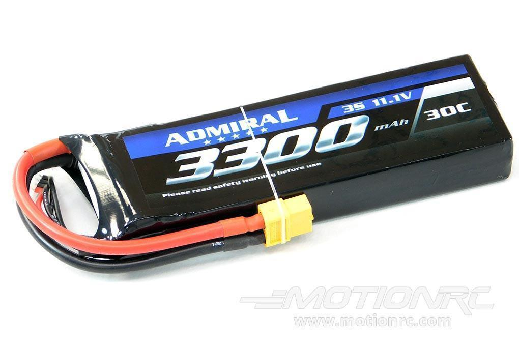 Admiral 3300mAh 3S 11.1V 30C LiPo Battery with XT60 Connector EPR33003X6