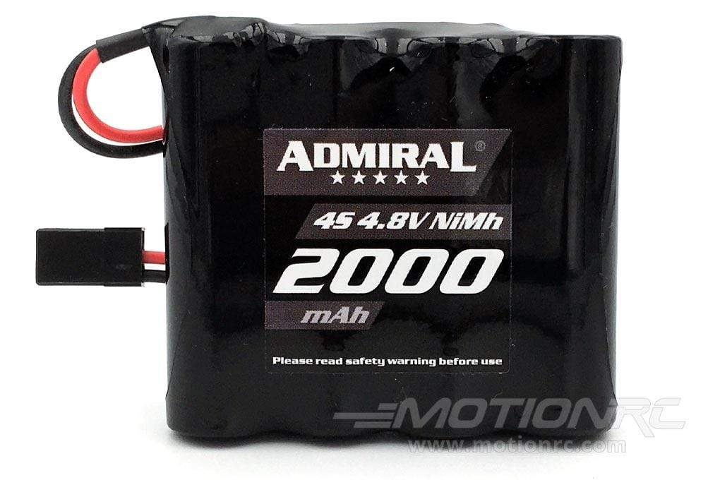 Admiral 4.8V 2000mAh NiMh Receiver Pack with JR Connector EPR20004NIMH