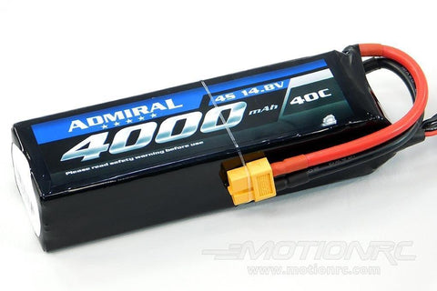 Admiral 4000mAh 4S 14.8V 40C LiPo Battery with  XT60 Connector EPR40004X6