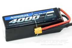 Admiral 4000mAh 6S 22.2V 40C LiPo Battery with XT60 Connector EPR40006X6