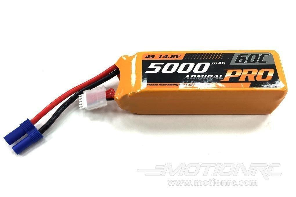 Admiral Pro 5000 4S 14.8V 60C LiPo Battery with EC5 - SCRATCH AND DENT EPR50004PRO(SD)